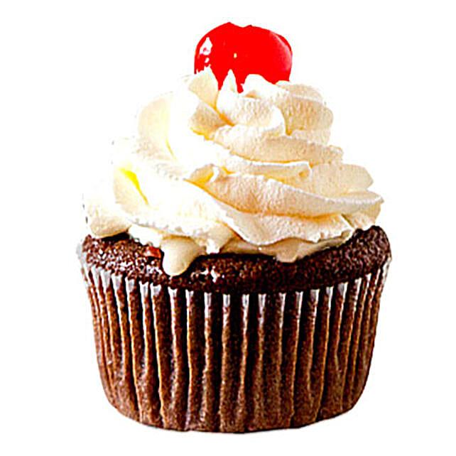 Chocolate Cherry Cupcakes 6 Eggless