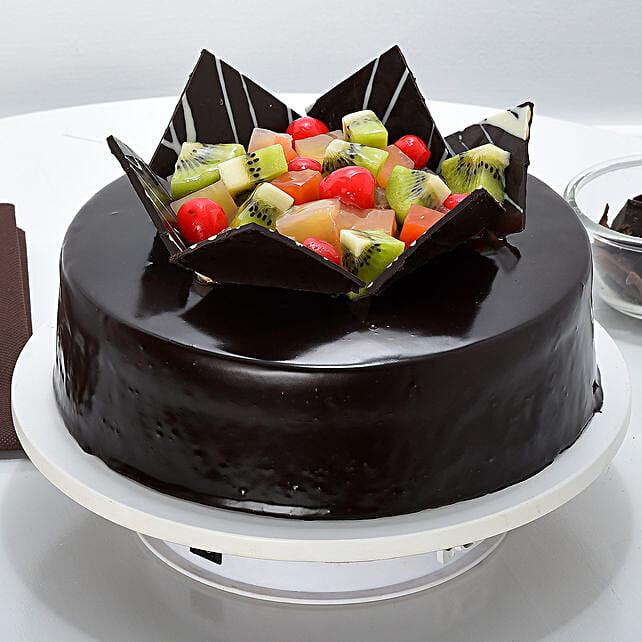 Chocolate Fruit Gateau 1kg Eggless
