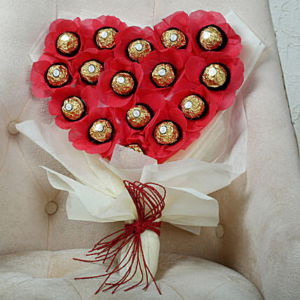 Heart-Shaped Chocolate Bouquet