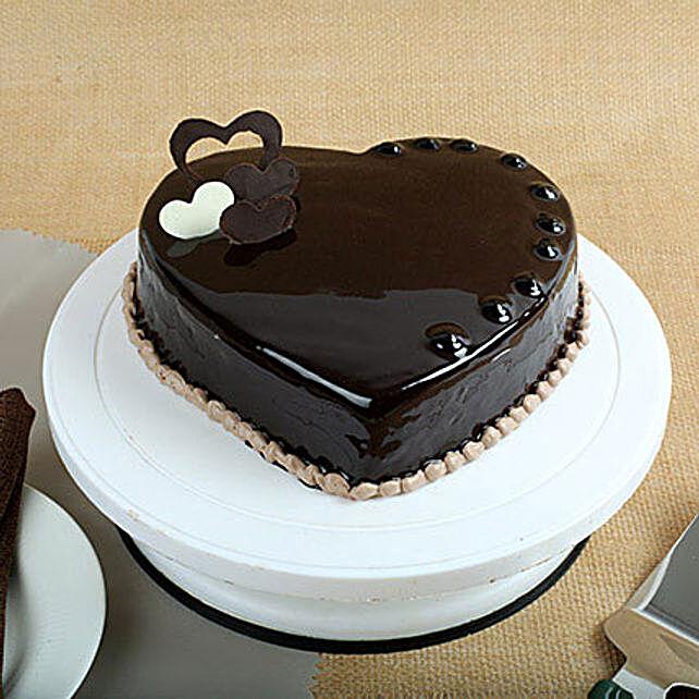 Chocolate Hearts Cake 1kg Eggless
