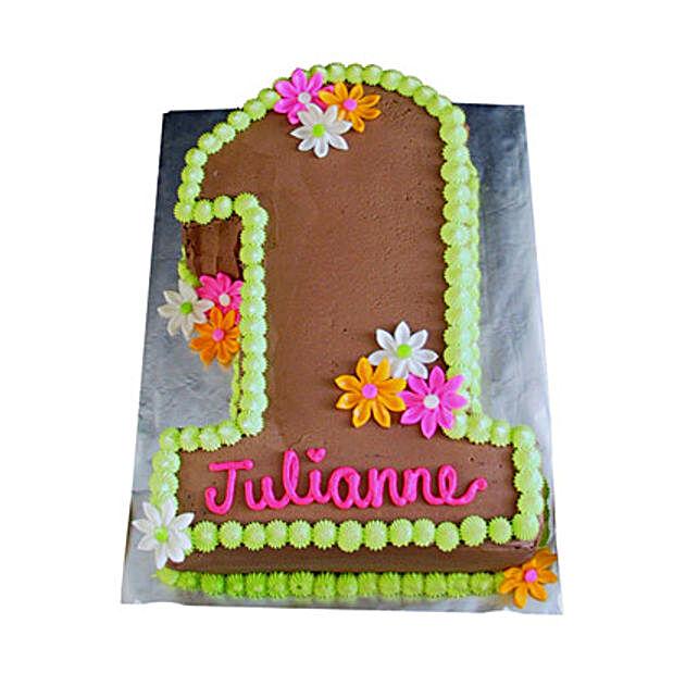 Chocolaty 1st Birthday Cake 3kg Eggless Vanilla