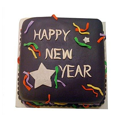 Chocolaty New Year Cake 3kg Eggless