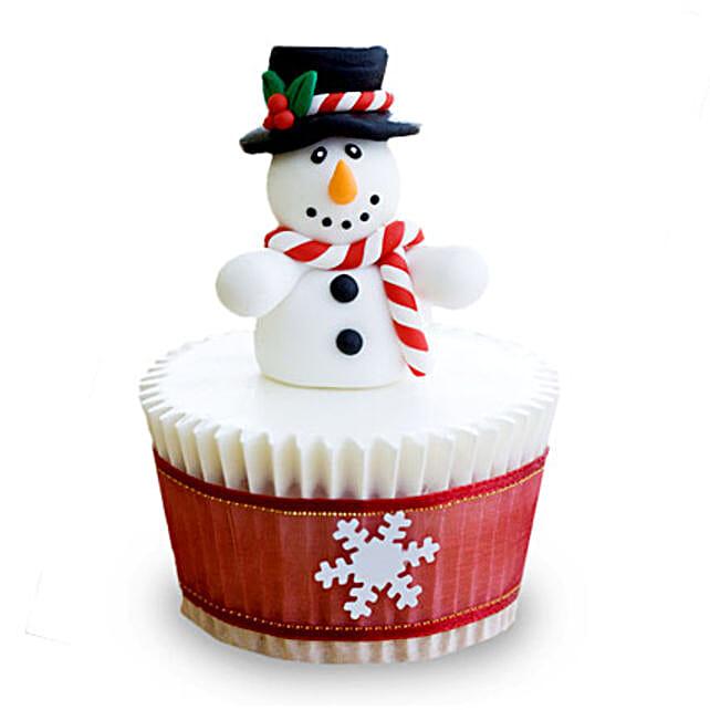 Christmas Snowman Cupcakes 24 Eggless