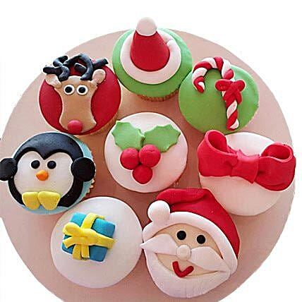 Christmas Special Cupcakes 24 Eggless