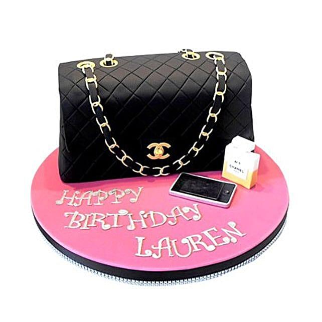 Classy Chanel Cake 3kg Eggless