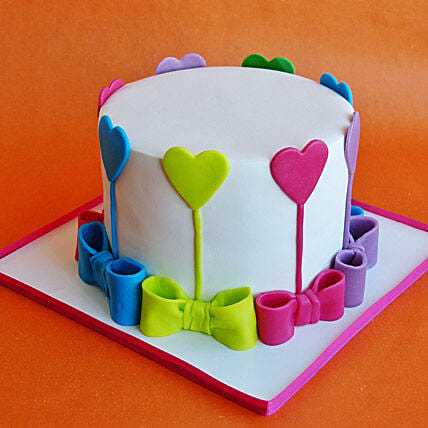 Colors Of Love Cake 1kg Vanilla Eggless