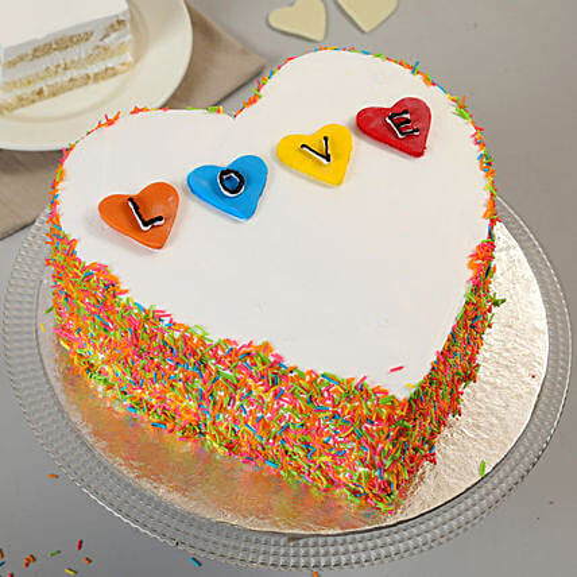 Colorful Love Cake