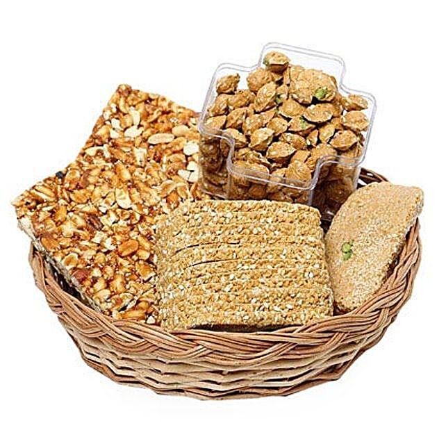 Crunchy Lohri Sweets Platter