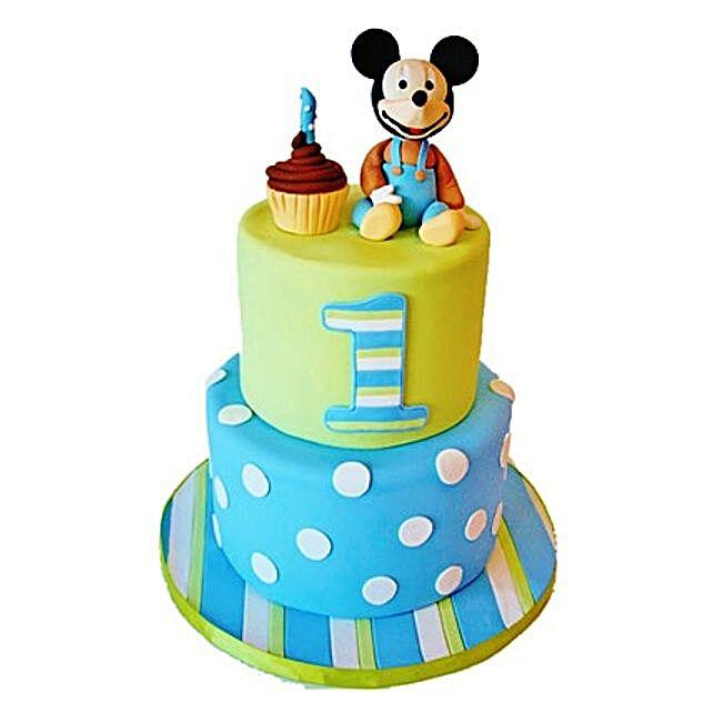Cute Cartoon Cake 3kg Eggless