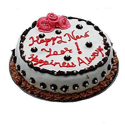 Decorative New Year Cake 1kg Eggless