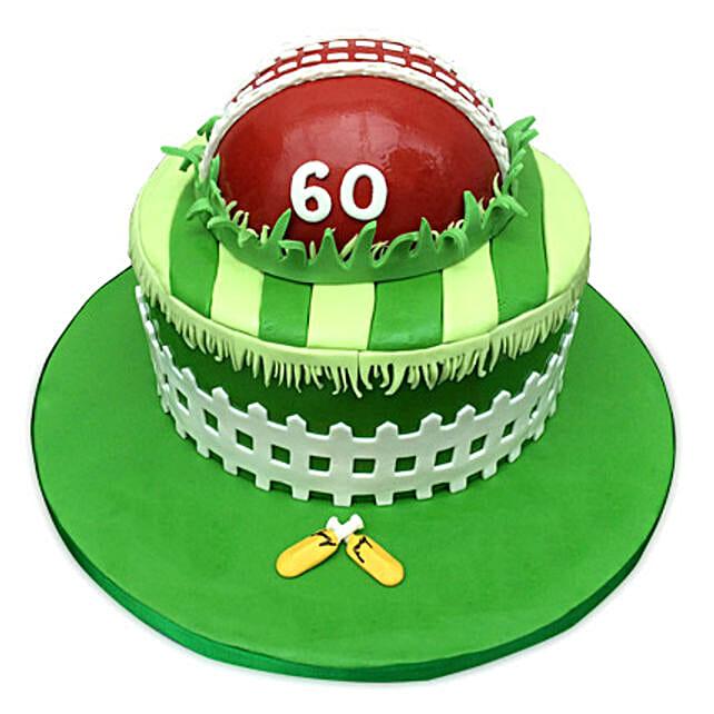 Designer Cricket Fever Cake 2kg Black Forest
