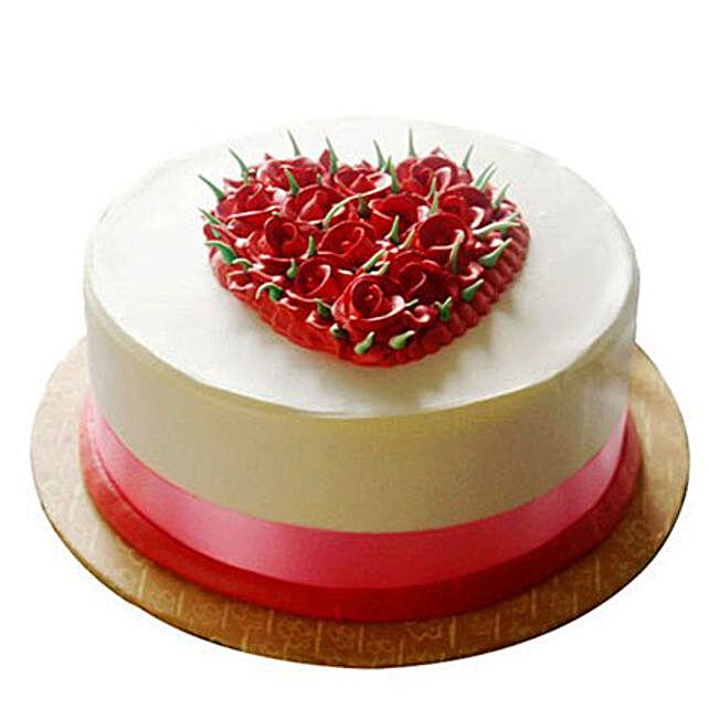 Desirable Rose Cake 1kg Eggless Vanilla