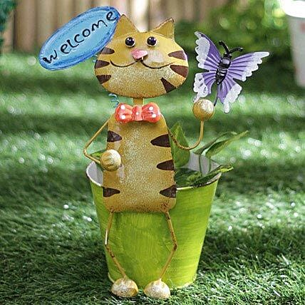 Cat Welcome Planter