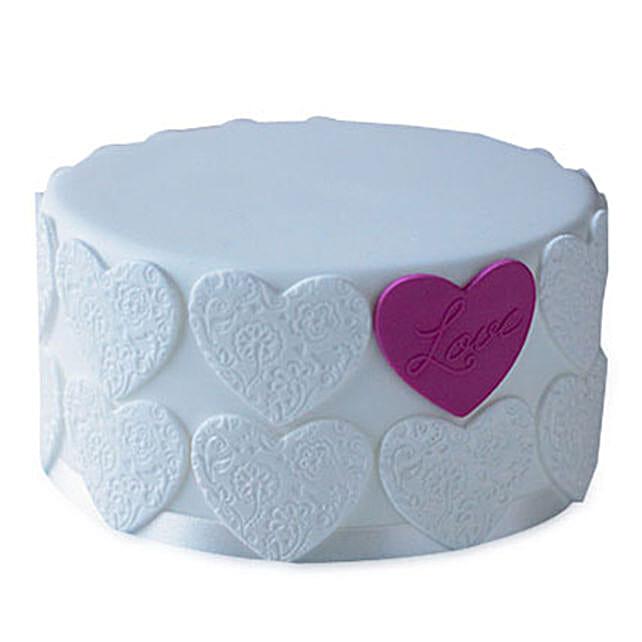 Elegant Love Cake 3kg Eggless Pineapple