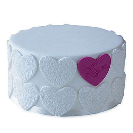 Elegant Love Cake 4kg Eggless Butterscotch