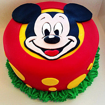 Fabulous Mickey Mouse Cake 1kg Black Forest Gift Mickey