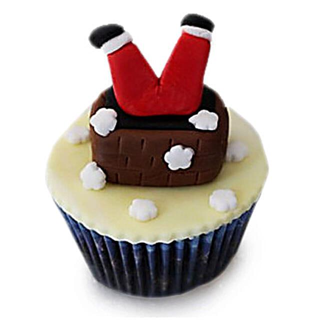 Falling Santa Cupcakes 24 Eggless