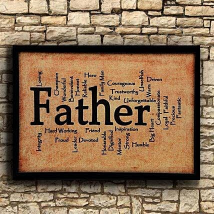 Printed Father Frame For Dad