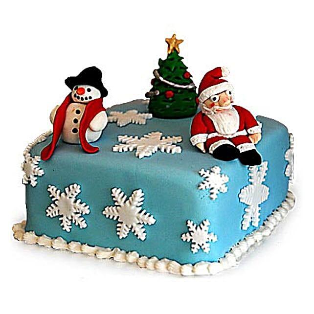 Festive Christmas Cake 2kg Eggless