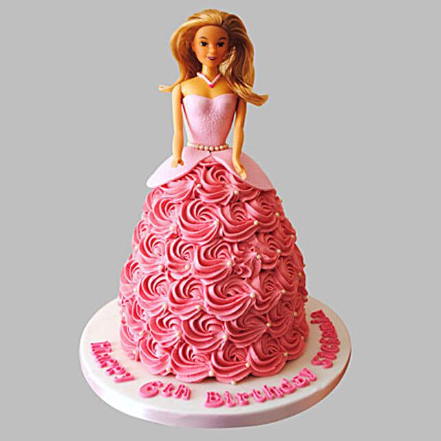 Barbie Doll Cake For Little Princesss 2kg