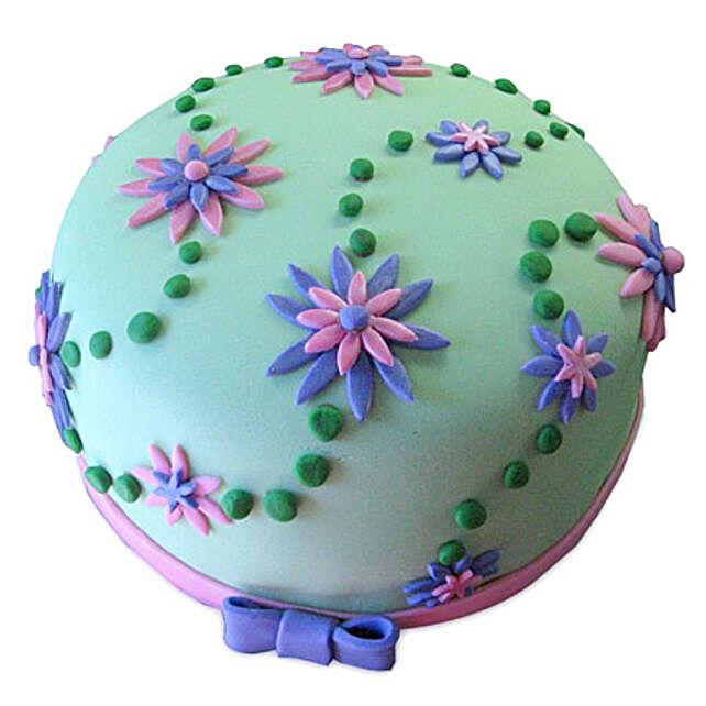 Flower Garden Cake 1kg Eggless Black Forest