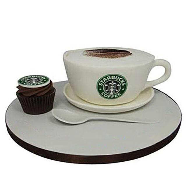 Forever Starbucks Cake 4kg Chocolate Eggless