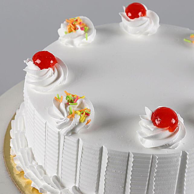 Fresh Vanilla Cake 2Kg Eggless