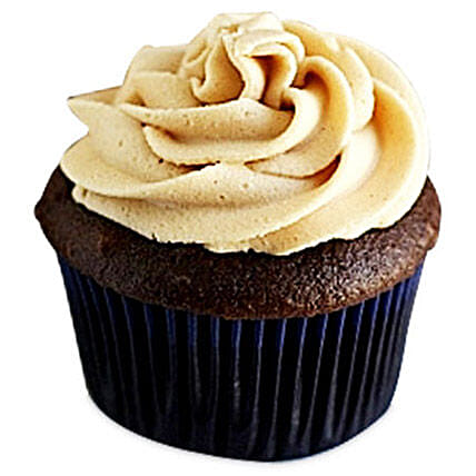 Frosted Peanut Butter Cupcakes 6 Eggless