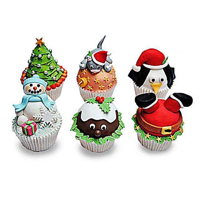 Funny Christmas Cupcakess 12 Eggless
