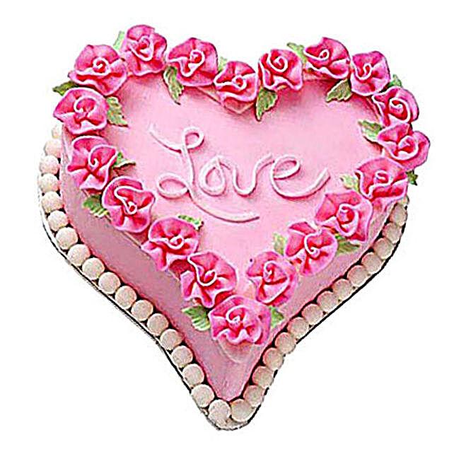 Gift A Heart Cake 3kg Eggless