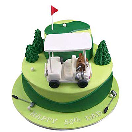 Golf Car Cake 5kg Eggless