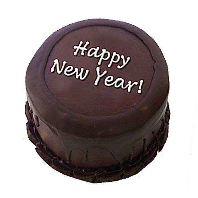 Happy New Year Chocolate Cake 1kg Eggless