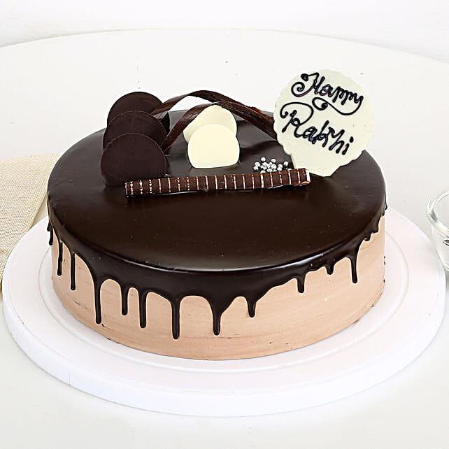 Happy Rakhi Chocolate Cake half kg