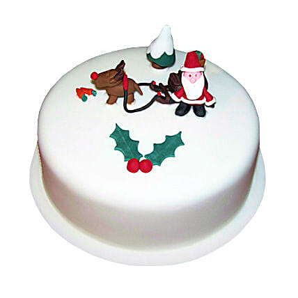 Happy Santa Christmas Cake 3kg Eggless