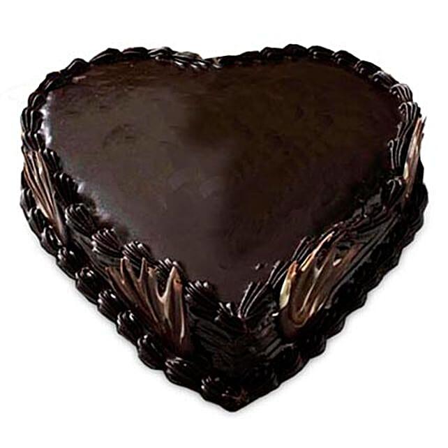 Heart Shape Truffle Cake 1Kg by FNP