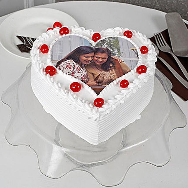Heart Shape Personalised Pinele Cake