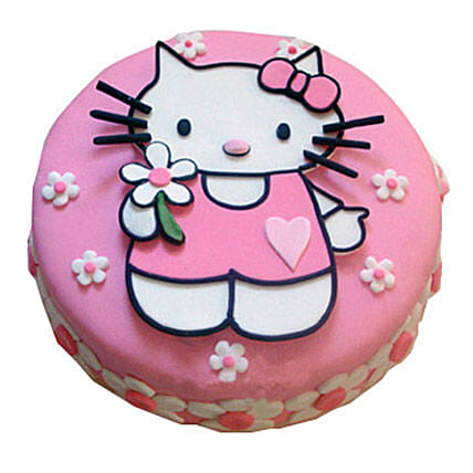 Hello Kitty Birthday Cake 4kg Vanilla Eggless