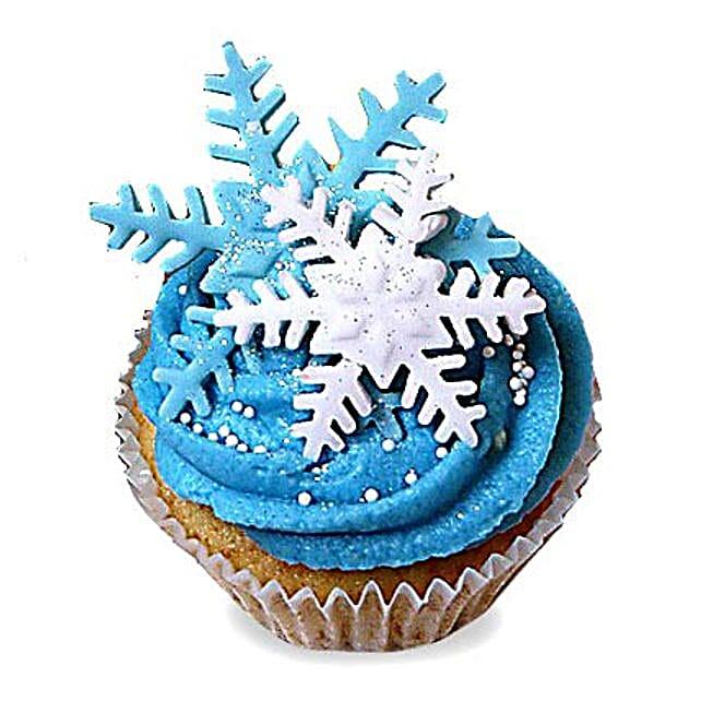 Iced Christmas Cupcakes 12 Eggless