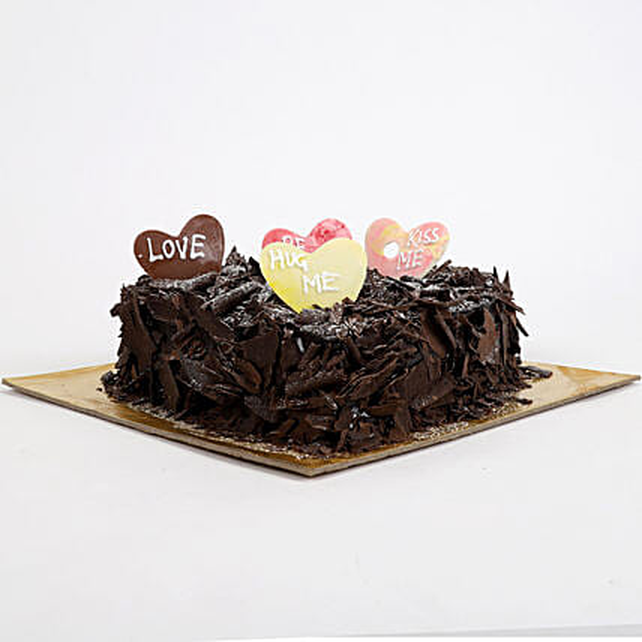Love in abundunce Valentine cake 1kg Eggless