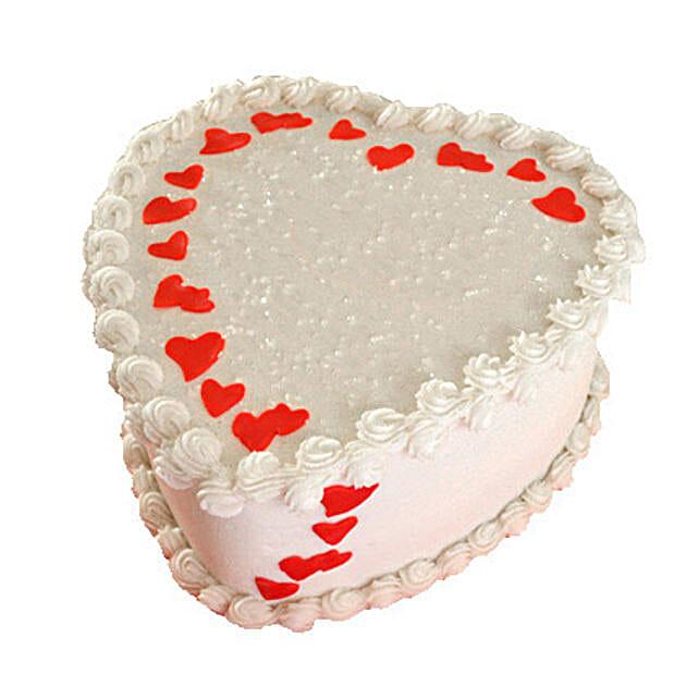 Lovely Heart Shape Cake 1kg Chocolate