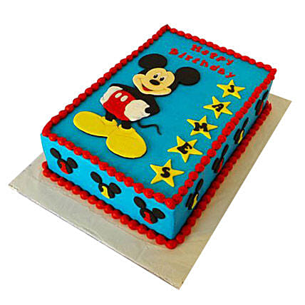 5 Star Mickey Mouse Birthday Cake For Kids 2kg