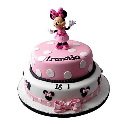 Minnie Mouse Birthday Cake 3kg Eggless