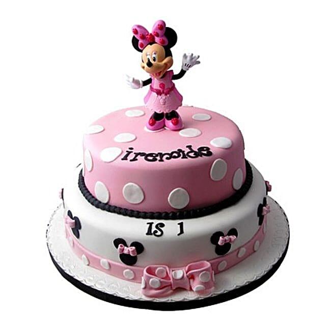 Minnie Mouse Birthday Cake 4kg Eggless