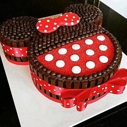 Minnie Mouse Kit Kat Cake 40kg Gift Minnie Mouse Shaped Chocolate Classy Minnie Mouse Designer Cake Decorating Kit