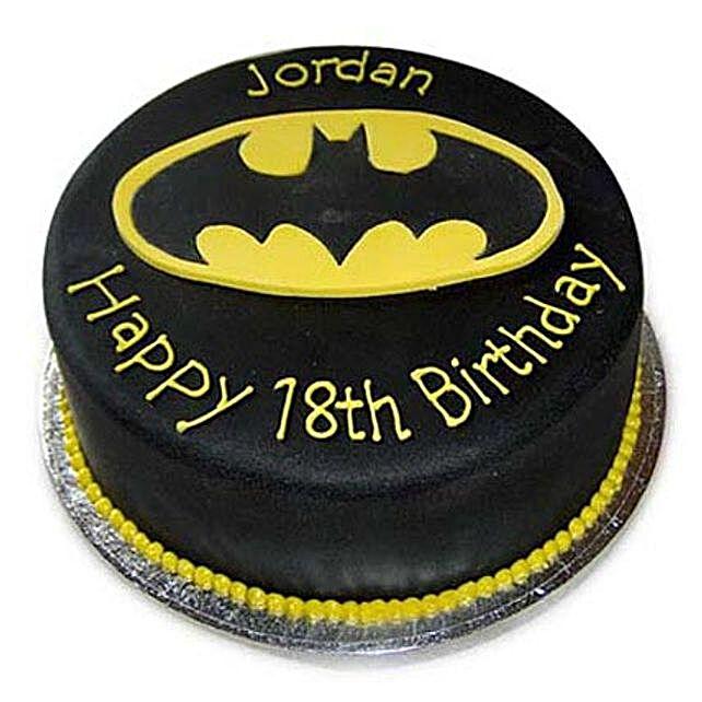 Mouthwatering Batman Cake 3kg Eggless