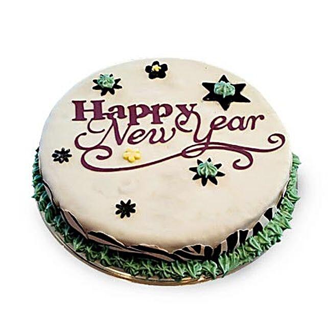 New Year Fondant Cake 4kg Eggless