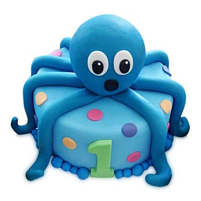 Octopus Cake 2Kg Eggless Chocolate
