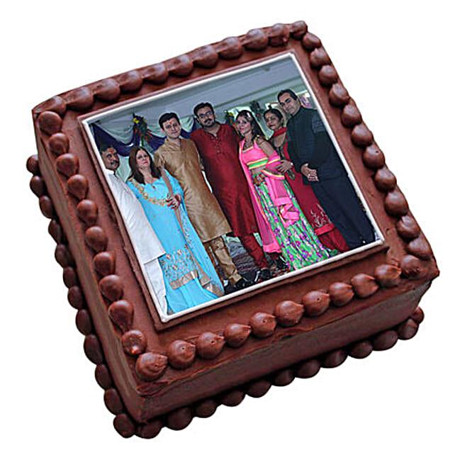 Photo Square Chocolate Cake 1kg Eggless