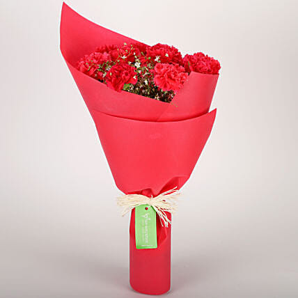 pink carnations bunch gift bouquets of red carnations ferns n petals