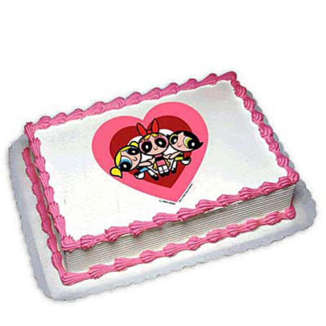 Powerpuff Girls Photo Cake 1kg by FNP